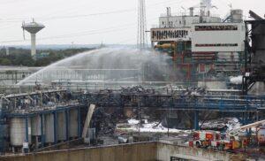 ChemPark, Leverkusen, Explosion, Germany, Fire, Water, Chemicals, Blast, FireFirghters