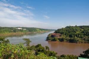 paraná, river, iguazú, río, paraná river, río paraná, green, nature, sky, blue,