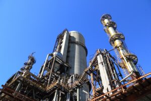 factory, equipment, heavy, refinery, industrial, biodiesel, biofuels, sky, blue