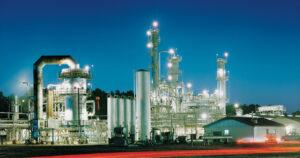 calumet, refinery, renewable diesel, lights, night, dark
