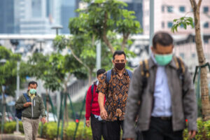 indonesia, lockdown, mask, street, ppkm